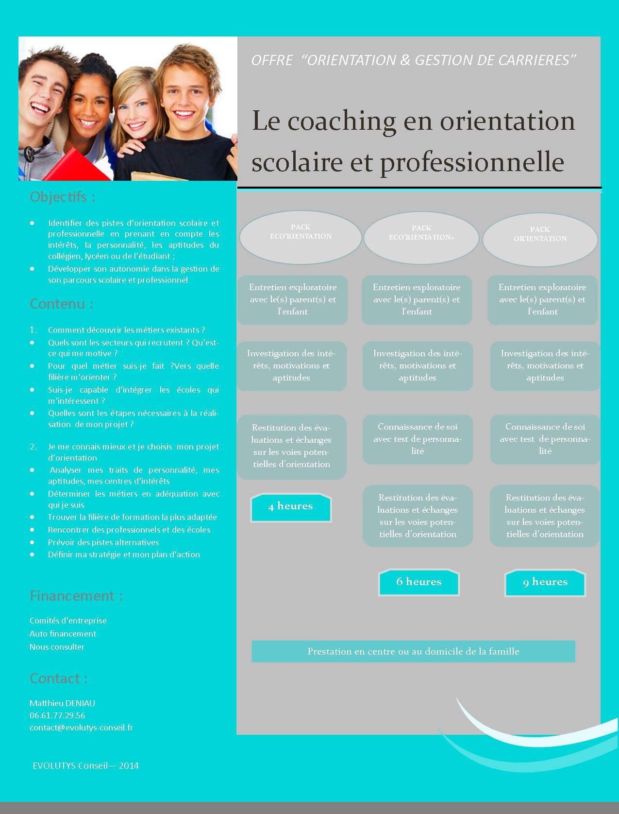 amazing price latest new concept Coaching en orientation scolaire et professionnelle ...